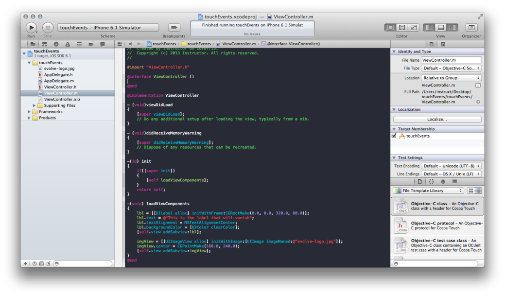 Screen shot of a programatic approach to making apps.